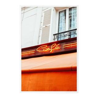 Paris Café by Oliver Cole, Contemporary Photograph in White, Medium For Sale