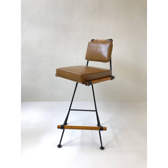 Set of Three Swivel Barstools For Sale In Palm Springs - Image 6 of 10