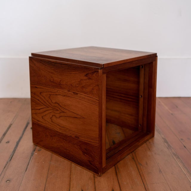 Rosewood Kai Kristiansen Nesting Cube Tables For Sale In San Diego - Image 6 of 12