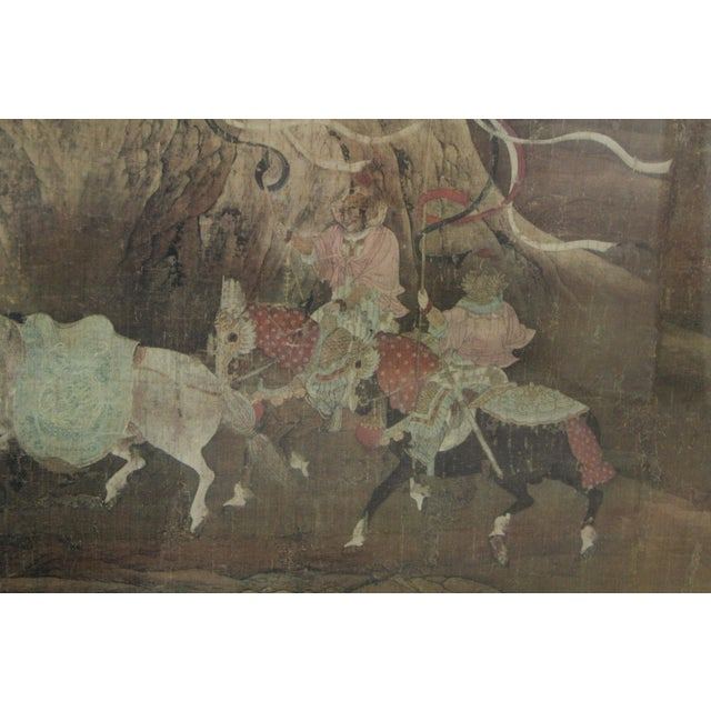 Gilt Wood Oriental Horse Ride Artwork For Sale - Image 5 of 7