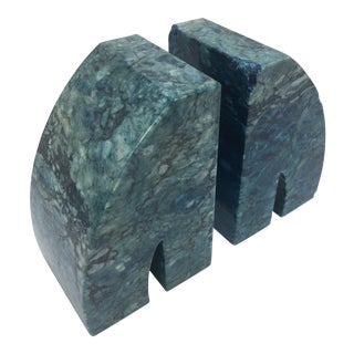 Vintage Stone Bookends For Sale