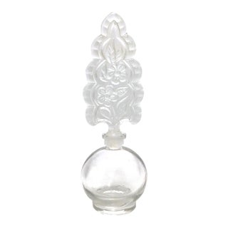 Perfume Bottle With Ornate Stopper For Sale