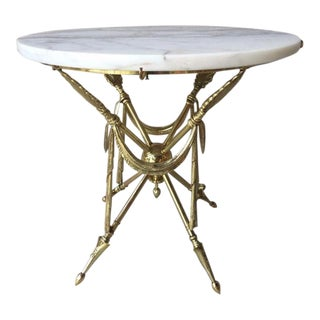 1960s Neoclassical Occasional Brass Table