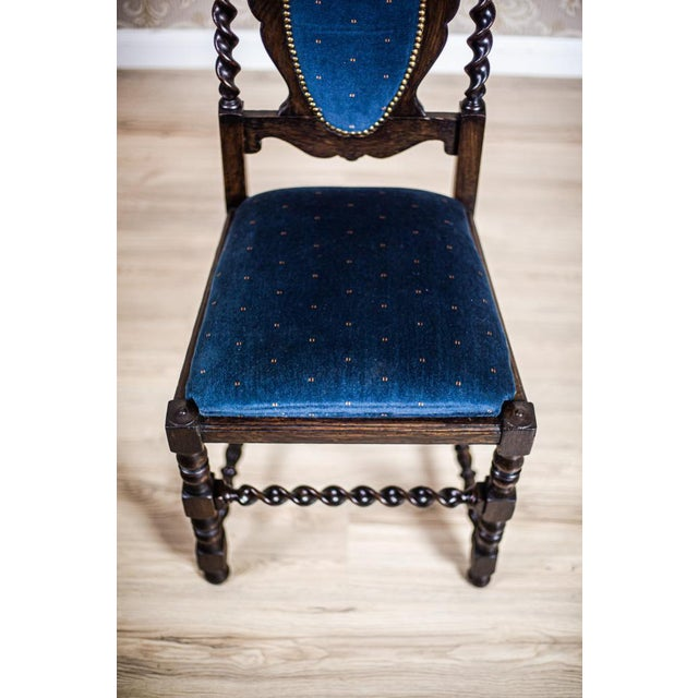19th-Century Carved Table With Chairs For Sale - Image 9 of 11