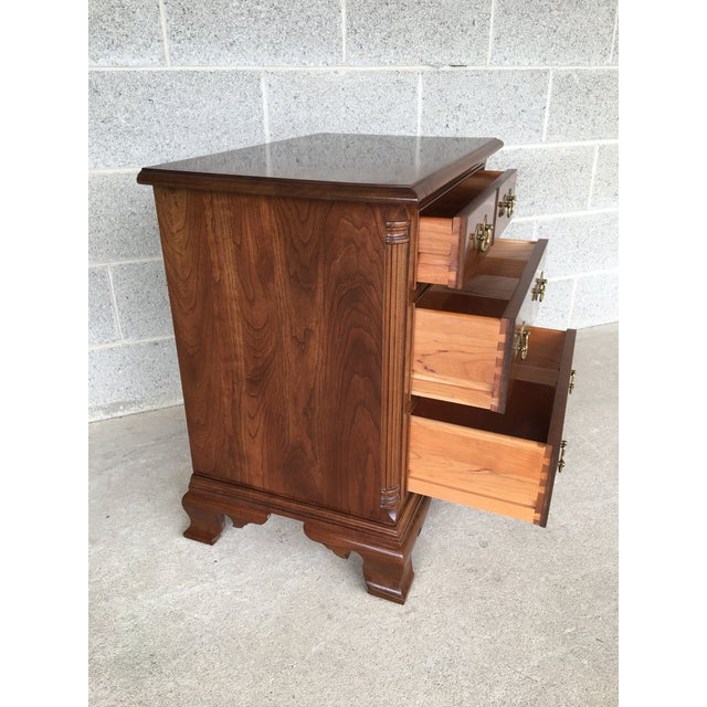 Description: Stickley Cherry Valley Single 3 Nightstand. High Quality Craftsmanship, Solid Condition, Normal Age Wear....