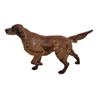 1930s Figurative Setter Iron Doorstop For Sale