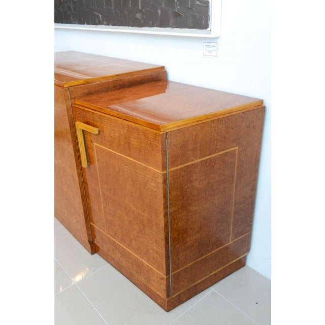 Maple Late Art Deco Birds-Eye Maple and Maple Inlaid Credenza, Eli Jacques Kahn For Sale - Image 7 of 7