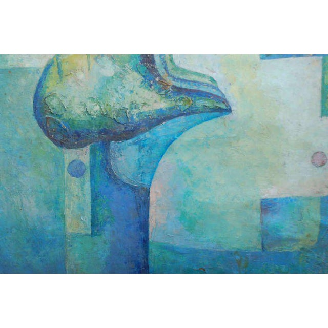 1970s Latin American Abstract Surrealist Original Painting For Sale - Image 5 of 6