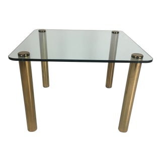 Regency Pace Collection Brass and Glass Dining or Games Table For Sale