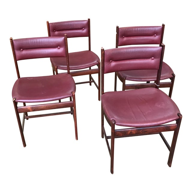 Solid Rosewood Danish Dining Chairs - Set of 4 - Image 1 of 7