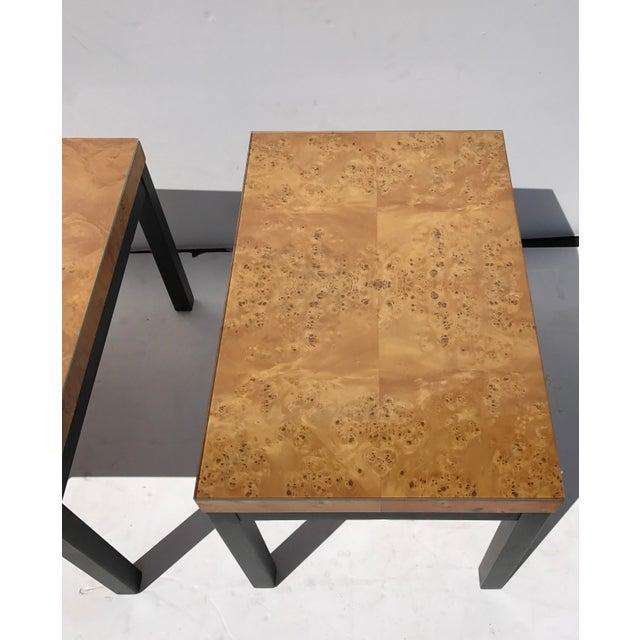 Milo Baughman Burl Wood Side/ End Tables - A Pair - Image 8 of 10