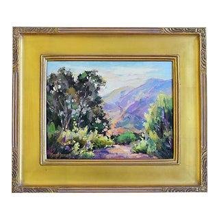 Margot Lennartz (1925-2015), California Abstract Landscape Oil Painting