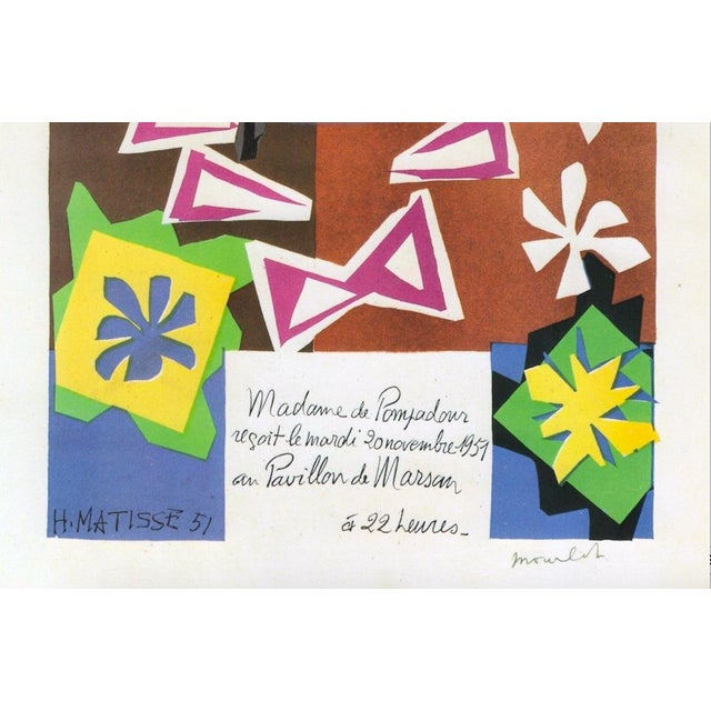 "1989 Matisse Original Vintage ""Bal Arts Decoratifs Mourlot"" Lithograph Print 1951 - Image 4 of 8"