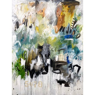 """Contemporary Abstract Painting by Gina Cochran - """"Emotional Math"""" For Sale"""