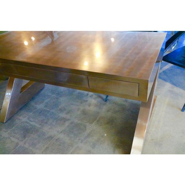Zee Desk in Bronze by Bridges Over Time Originals For Sale - Image 11 of 13