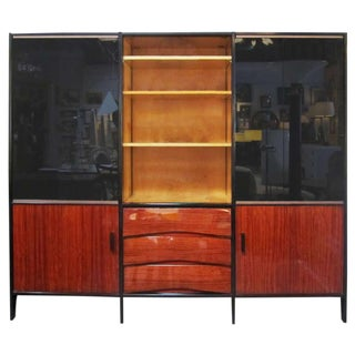 Mid-Century French Bookshelf in Mahogany by Meubles Minvielle For Sale