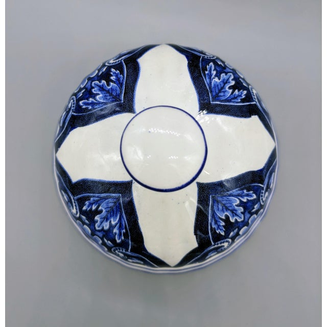 Late 20th Century Large 20th Century Italian Blue & White Ardalt Delphia Ginger Jar For Sale - Image 5 of 8