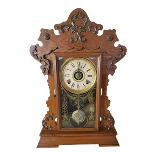 Early 20th Century Seth Thomas American Art Nouveau Period Clock For Sale