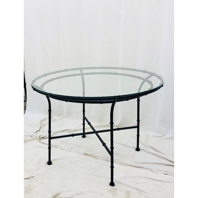 Mid 20th Century Vintage Faux Bamboo Style Table For Sale - Image 5 of 13