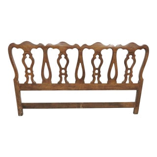 French Provincial Fruitwood Kingsize Headboard For Sale