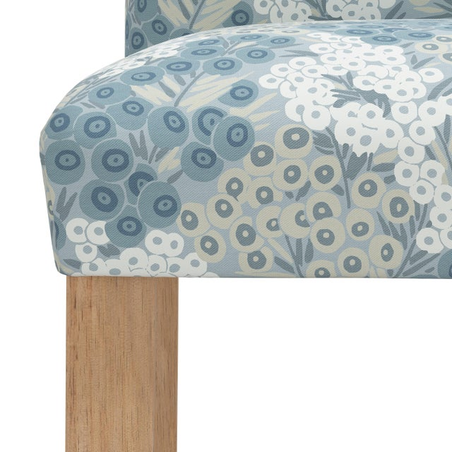 Not Yet Made - Made To Order Bar stool in Loiret Blue For Sale - Image 5 of 8