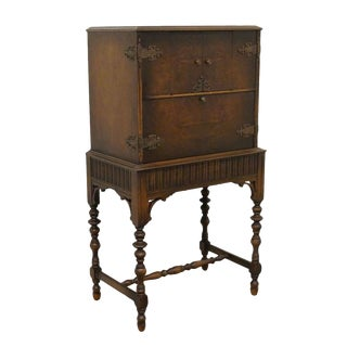 1920's Jacobean Gothic Revival Writing Desk/Secretary For Sale