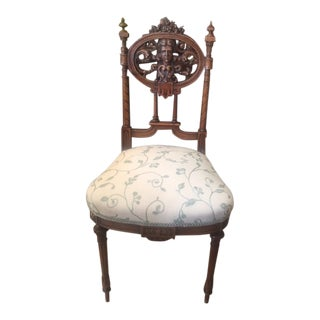 Early 19th Century Walnut French Side Chair For Sale