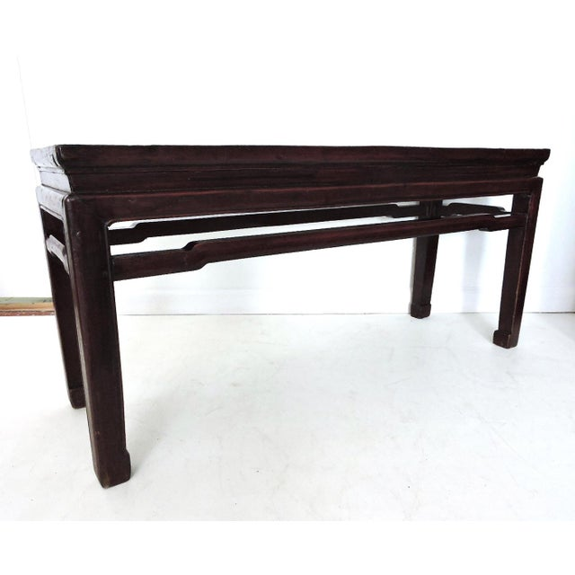 The 'Ming' bench - simple elegant lines, uncluttered. Versatile two seat bench or possible console or coffee / side table....