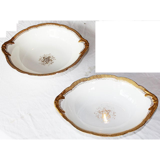 Gold Limoges Serving Bowls - A Pair For Sale - Image 8 of 8