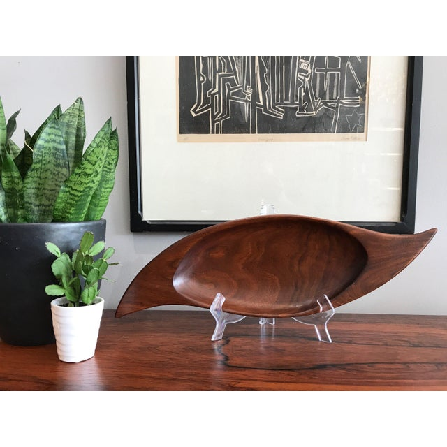 Gorgeous handmade studio bowl in walnut. Signed E Deak, Vancouver BC. Great design, and is in great condition. One small...