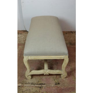 Late 20th Century Vintage Linen Bench Preview