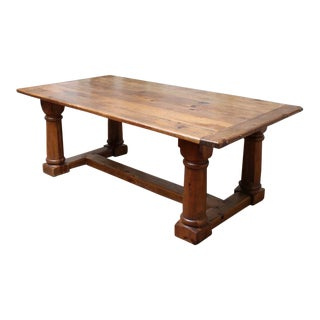 Rustic Ralph Lauren Pine Dining Table For Sale