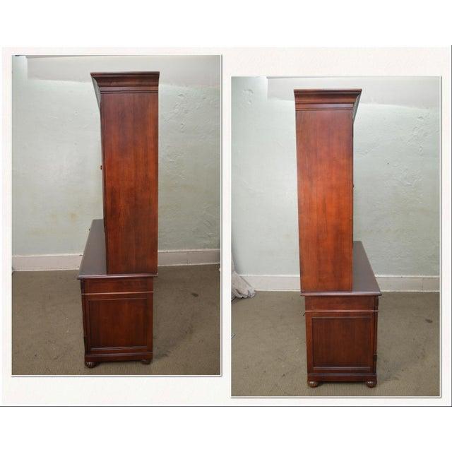 Ethan Allen Ethan Allen British Classics Office Desk Credenza W/ Hutch Top For Sale - Image 4 of 13