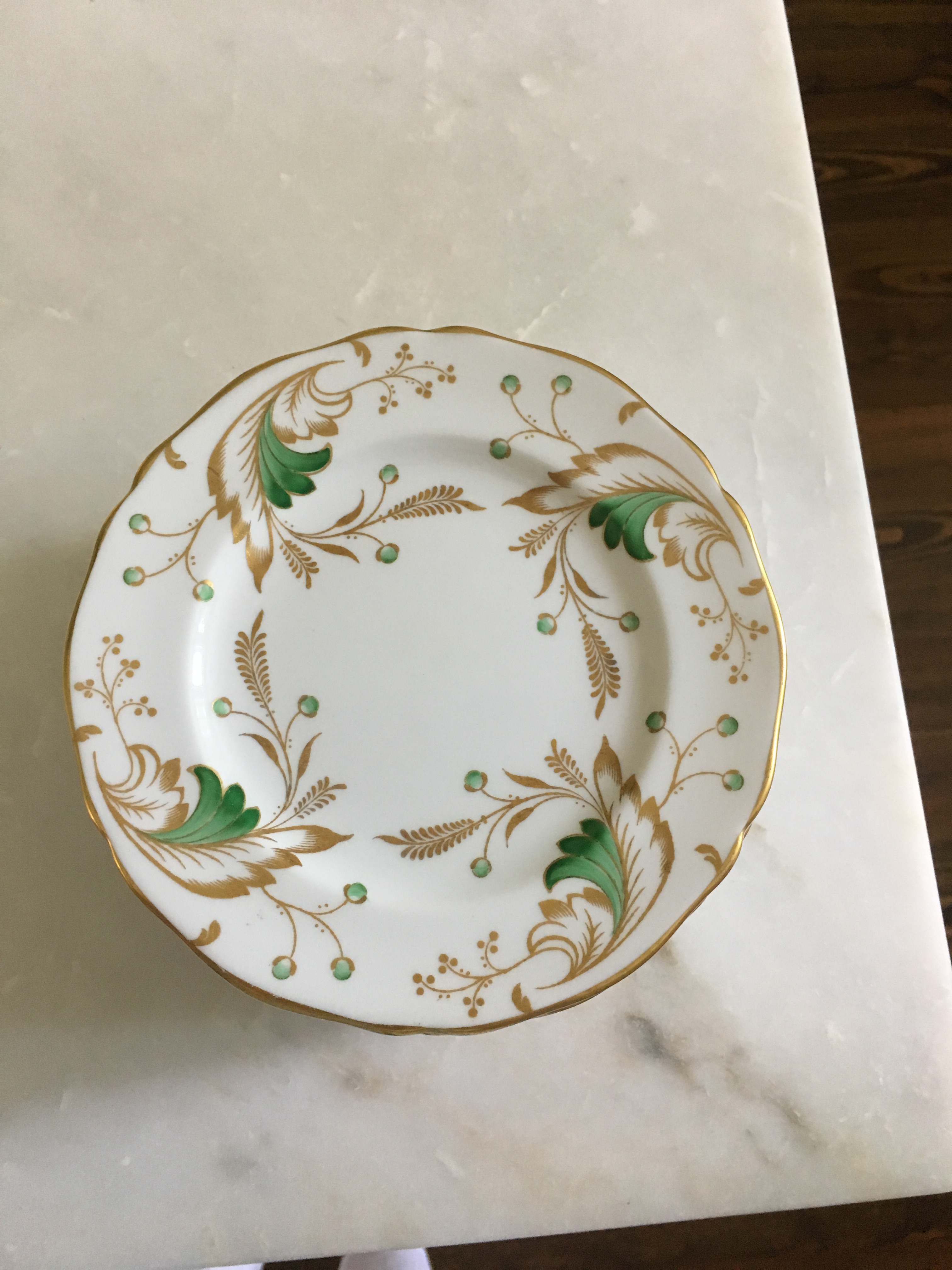 Spode for Tiffany and Co.  Emerald  Plates - Set of 12 - Image  sc 1 st  Chairish & Spode for Tiffany and Co.