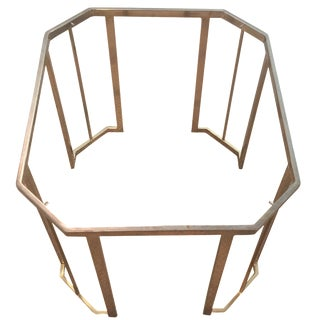 Octagonal Brass Side Table Base For Sale