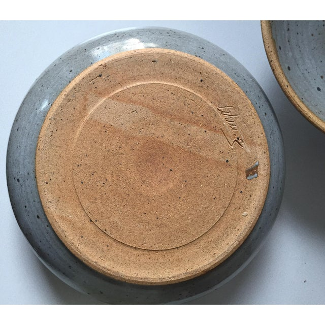 Signed Gerry Williams Mid-Century Stoneware Lidded Bowl - Image 5 of 7