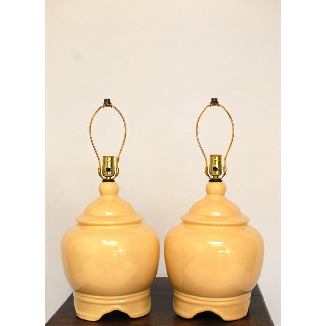 Vintage Ginger Jar Style Lamps - A Pair