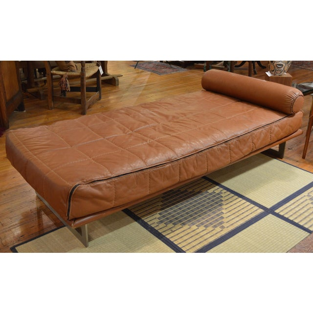 Mid Century Italian Modernist Faux Leather Daybed For Sale - Image 13 of 13