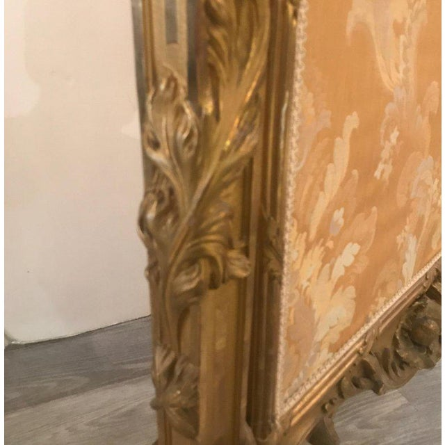 Late 19th Century Antique Louis XV Style French Fire Screen For Sale - Image 5 of 13