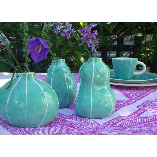 Early 21st Century Green Bud Vases - Set of 3 For Sale - Image 5 of 6