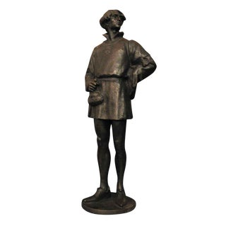 "1907 ""Edelmann"" Bronze Signed Statue For Sale"