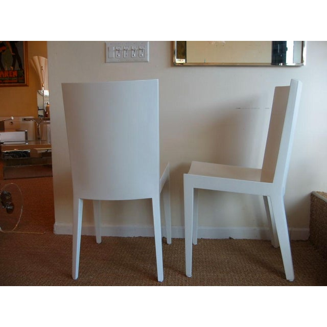"Pair of Karl Springer ""JMF"" Chairs - Image 2 of 7"