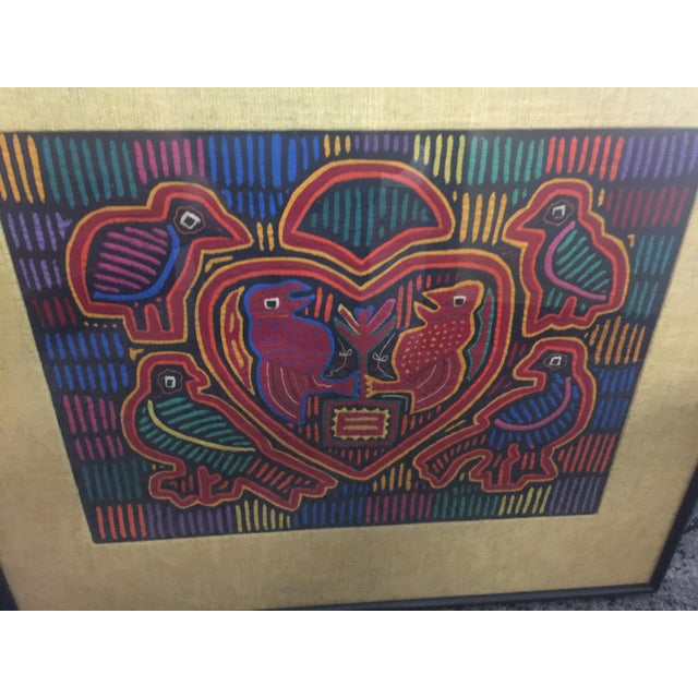 Panama Textile Art Ethnographic Mola a Pair Kuna For Sale - Image 4 of 7