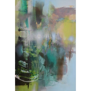 """""""Petrichor 1"""" Contemporary Abstract Expressionist Mixed-Media Painting For Sale"""