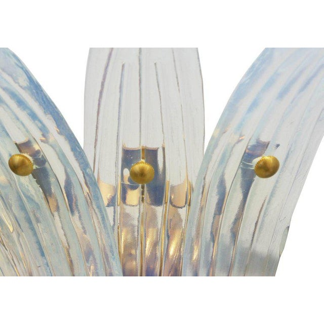 Fabio Ltd. Opaline Palmette Sconces (2 Pairs Available) For Sale In Palm Springs - Image 6 of 9