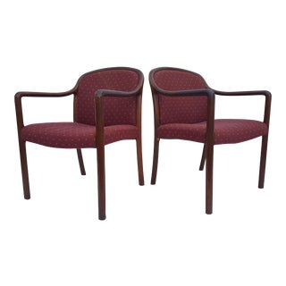 Authentic Mid-Century Modern Gunlocke Arm Chairs A Pair.