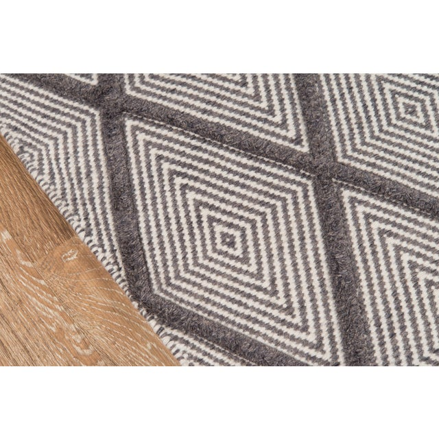 "Modern Erin Gates by Momeni Langdon Spring Charcoal Hand Woven Wool Area Rug - 90"" x 114"" For Sale - Image 3 of 7"