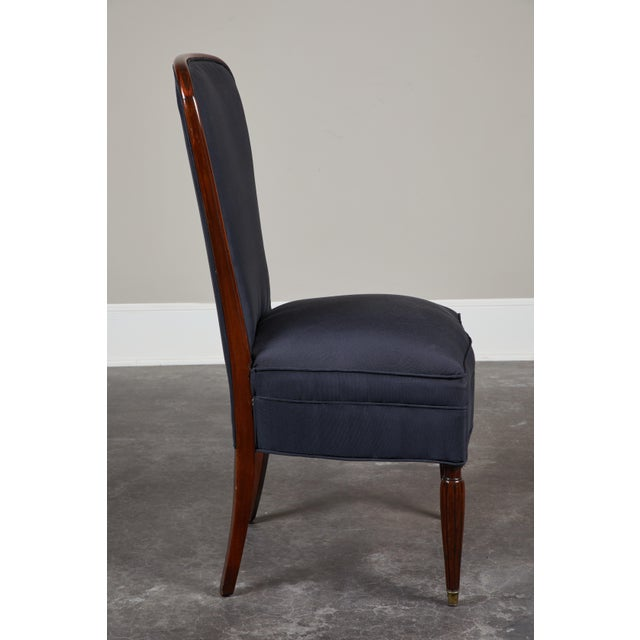 Art Deco Set of 8 French Art Deco Rosewood Chairs For Sale - Image 3 of 8