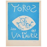 Image of Picasso Linocut Toros Vallauris 1957 Signed Arnera 38/200 For Sale