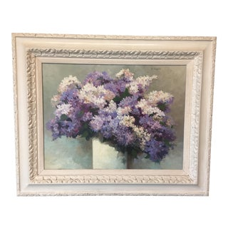 Vintage Lilacs Painting For Sale